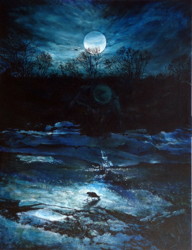 달과새(The Moon and A Bird) 145.5x112.1cm Acrylic on Canvas 2009.jpg