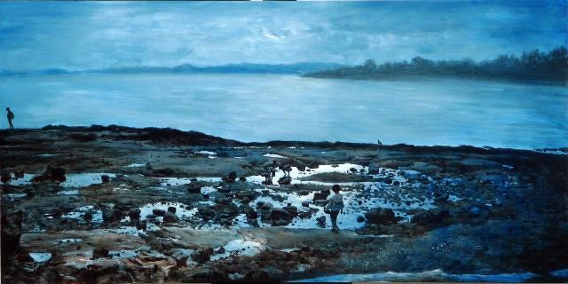 바닷가의 아이 100x200cm Acrylic on Canvas 2008.jpg