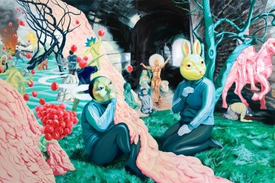 가짜왕lord of misrule oil on canvas  300x200cm  2010.jpg