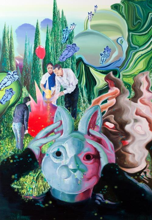 (1)녹색 기반 Green Base  Oil on Canvas130.3x89.4cm 2012.jpg