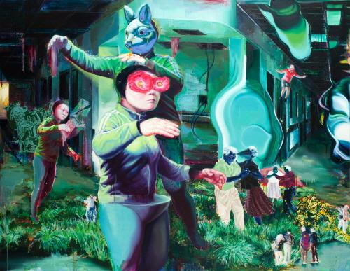 (7)'거의'라는 세계 The World of 'Das Beinahe' Acrylic & Oil on Canvas 160x210cm 2012.jpg