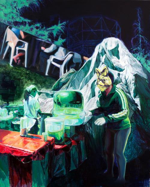 (15)푸른 골짜기 The Green Valley  Acrylic & Oil  on Canvas 162.2x130.3cm 2012.jpg