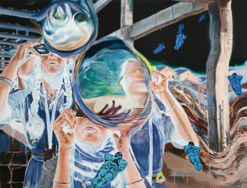(5)3종 조우2 Encounter Of 3rd Kind2 oil on canvas 112.1x145.5cm 2013.jpg