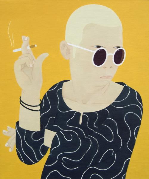 한 사람- 친일파   oil on canvas 72.7cm x 60.6cm  2012.jpg