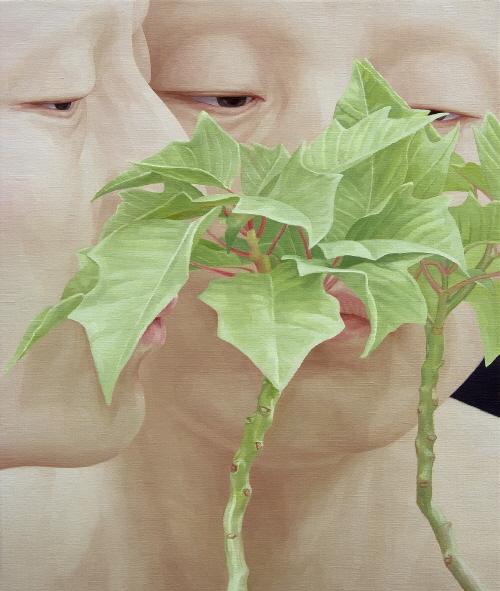 한 사람으로서의 자화상-입맞춤5  oil on canvas 90 x 75cm  2012.jpg