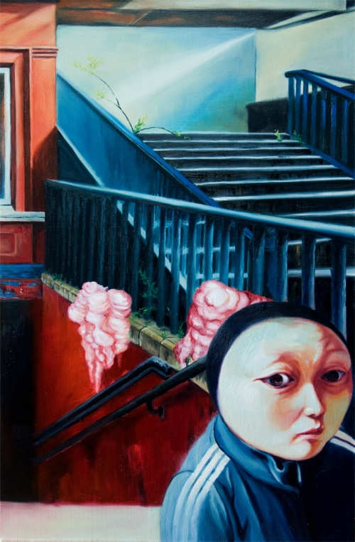 붉은 집2 the red house oil on canvas 64x97cm 2010.jpg